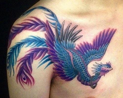 Purple Shade bird