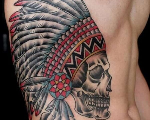 American Indian Cherokee Tribal Tattoo