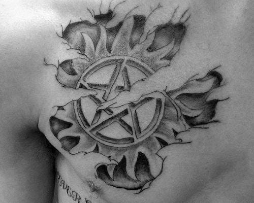 Wavy tattoo